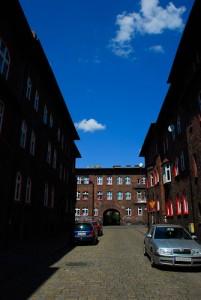 Nikiszowiec - pół zdjęcia w cieniu