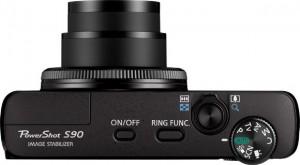 Canon S90 - od góry