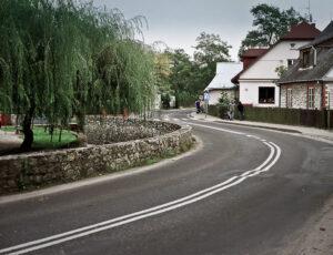 """Kazimierz Dolny. Droga w kształcie litery """"S"""""""